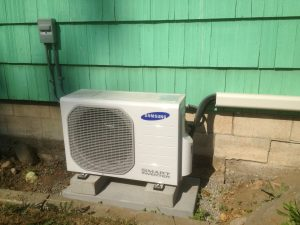 mitsubishi ductless heating and cooling system