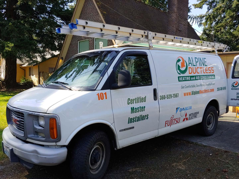 alpine ductless team van